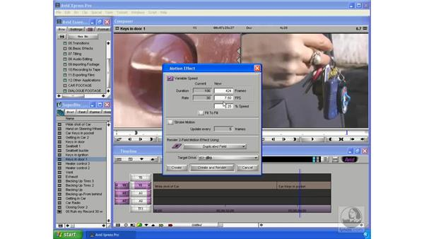 Basic motion effects: Avid Xpress Pro 5.5 Essential Editing