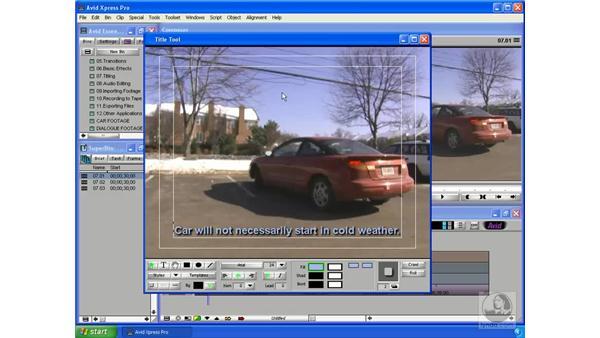 Creating titles: Avid Xpress Pro 5.5 Essential Editing