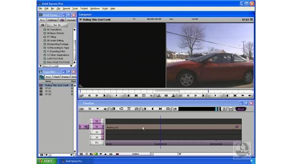 Adding credits: Avid Xpress Pro 5.5 Essential Editing