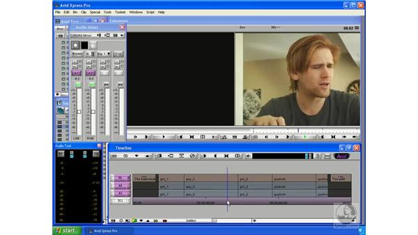 Setting audio levels: Avid Xpress Pro 5.5 Essential Editing