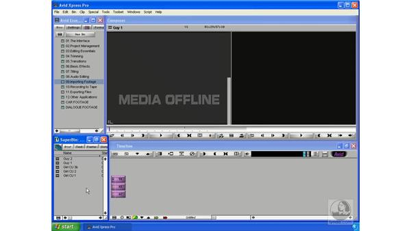 Batch capturing from a tape: Avid Xpress Pro 5.5 Essential Editing