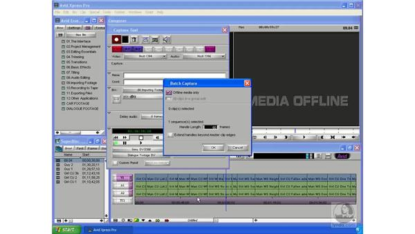 Recapturing your footage: Avid Xpress Pro 5.5 Essential Editing