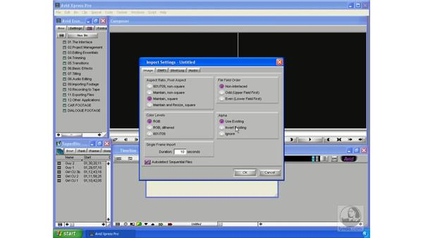 Importing files: Avid Xpress Pro 5.5 Essential Editing