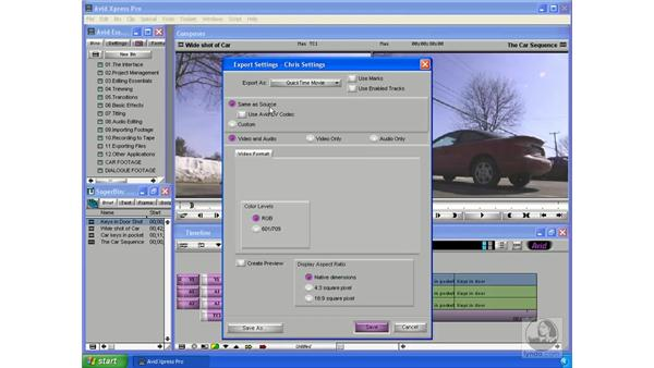 Exporting for DVD: Avid Xpress Pro 5.5 Essential Editing