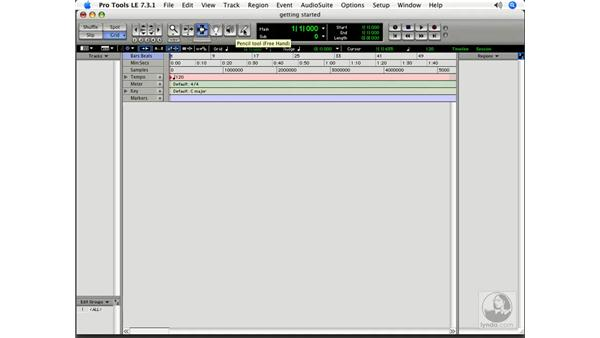 Overview of the interface: Pro Tools 7 LE Essential Training