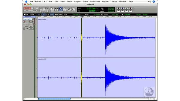 Importing audio and separating it into regions: Pro Tools 7 LE Essential Training