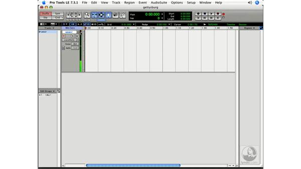 Tracking a voice: Pro Tools 7 LE Essential Training