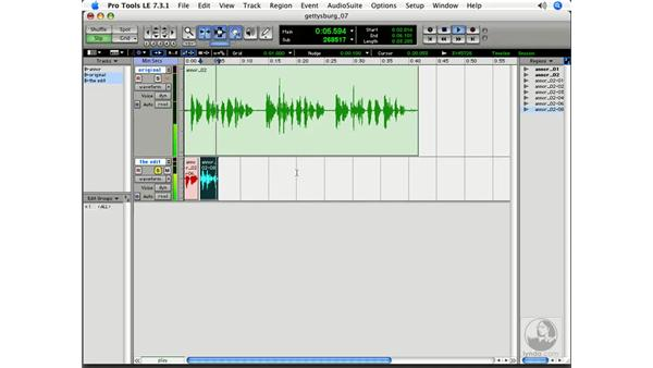 Using the Separation Grabber to edit: Pro Tools 7 LE Essential Training
