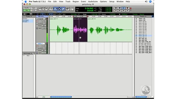 Punching a line: Pro Tools 7 LE Essential Training