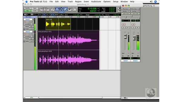 Bouncing or consolidating?: Pro Tools 7 LE Essential Training