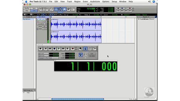 Music terminology: Pro Tools 7 LE Essential Training