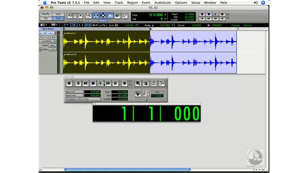 Editing on the grid: Pro Tools 7 LE Essential Training