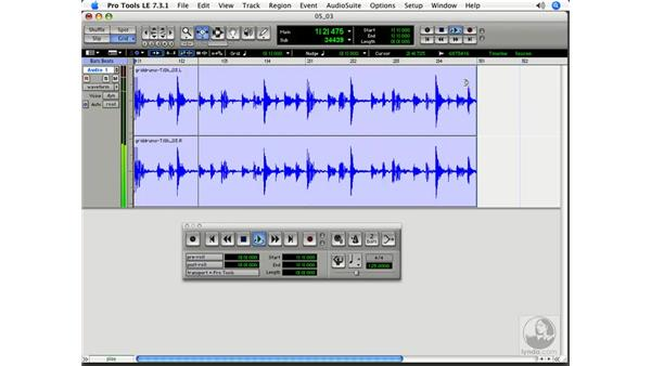 Using the Time Compression Trimmer on the grid: Pro Tools 7 LE Essential Training