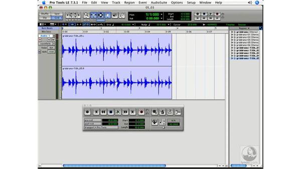 Un-griddable music: Pro Tools 7 LE Essential Training