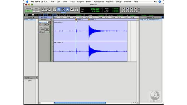 Creating timeline-based markers: Pro Tools 7 LE Essential Training