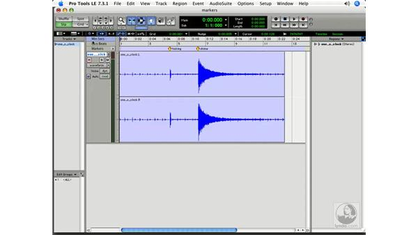 Creating bar- and beat-based markers: Pro Tools 7 LE Essential Training