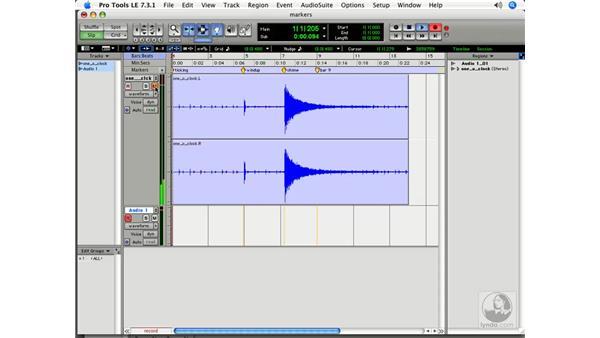 Placing lyrics on a timeline: Pro Tools 7 LE Essential Training