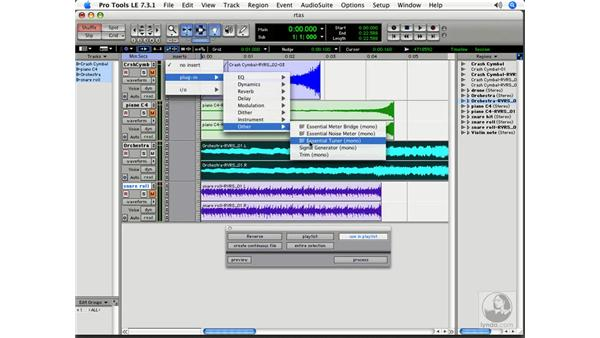 Real-time plug-ins: Pro Tools 7 LE Essential Training