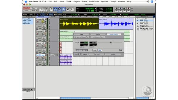 Normalize: Pro Tools 7 LE Essential Training