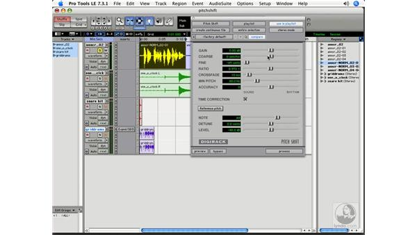 Pitch Shift: Pro Tools 7 LE Essential Training