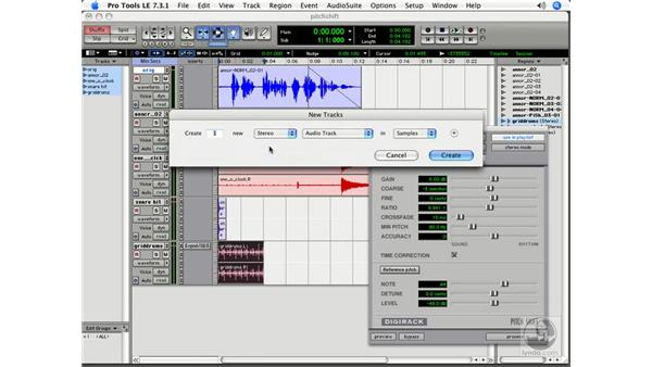 Further effects with Pitch Shift: Pro Tools 7 LE Essential Training