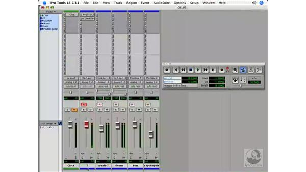 Creating playlists: Pro Tools 7 LE Essential Training