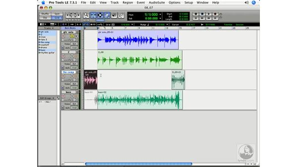 Building a composite on a separate track: Pro Tools 7 LE Essential Training