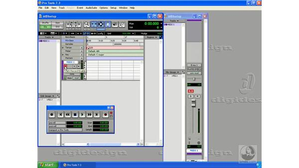 MIDI setup on the PC: Pro Tools 7 LE Essential Training