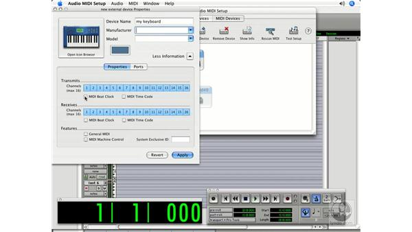 MIDI setup on the Mac: Pro Tools 7 LE Essential Training