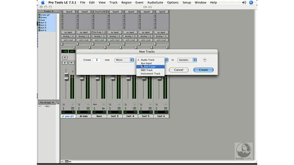 Triggering samples with MIDI: Pro Tools 7 LE Essential Training