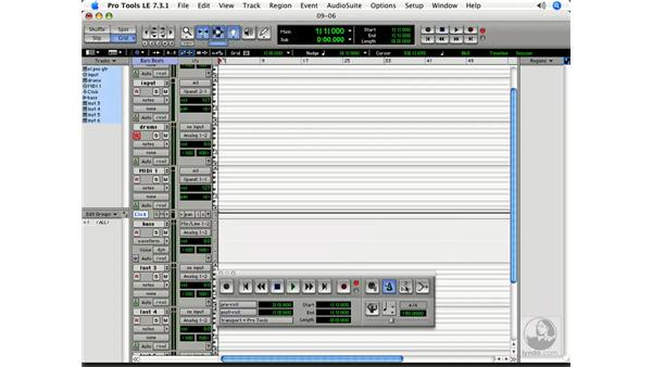 Setting up a click track: Pro Tools 7 LE Essential Training