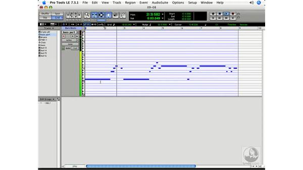 Editing MIDI sequences: Pro Tools 7 LE Essential Training