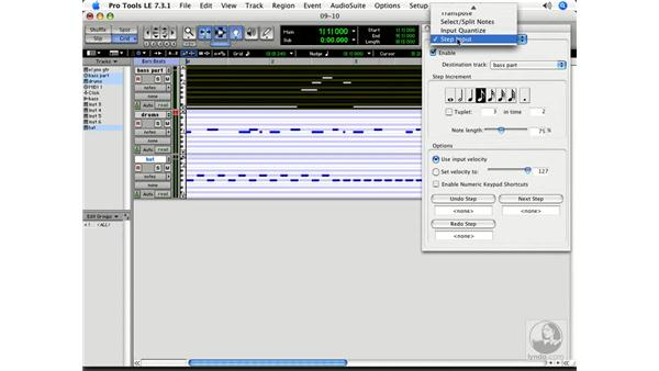 Transposing MIDI: Pro Tools 7 LE Essential Training