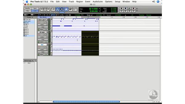 Modifying MIDI: Pro Tools 7 LE Essential Training