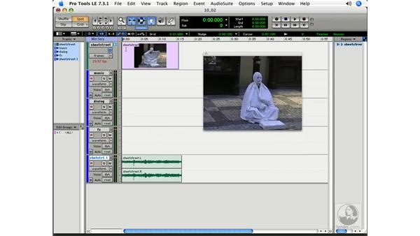 Importing visuals into Pro Tools: Pro Tools 7 LE Essential Training