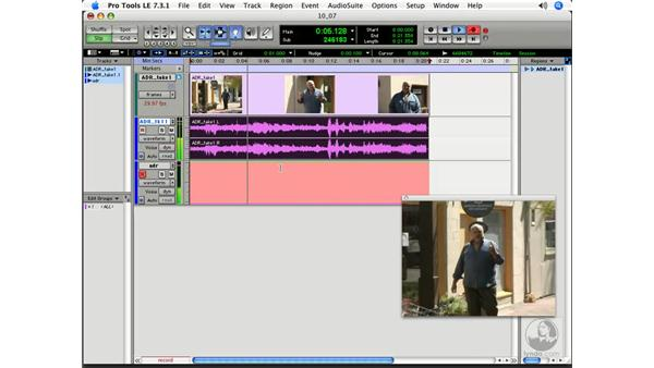Automatic Dialogue Replacement (ADR): Pro Tools 7 LE Essential Training