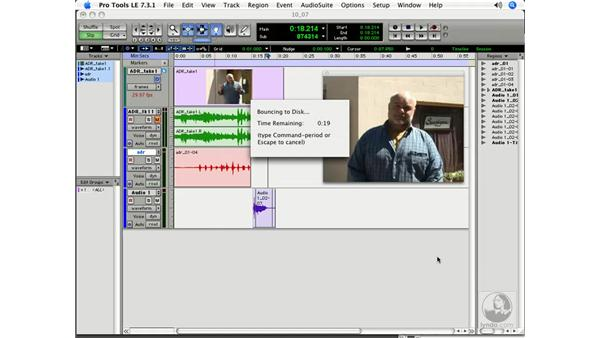 Bouncing video to disc: Pro Tools 7 LE Essential Training