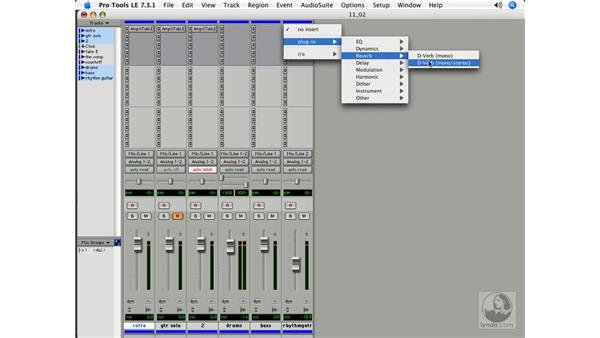 Plug-in automation: Pro Tools 7 LE Essential Training