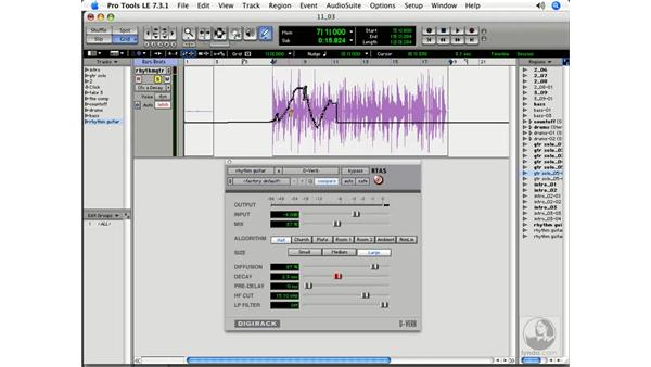 Smoothing automation data: Pro Tools 7 LE Essential Training