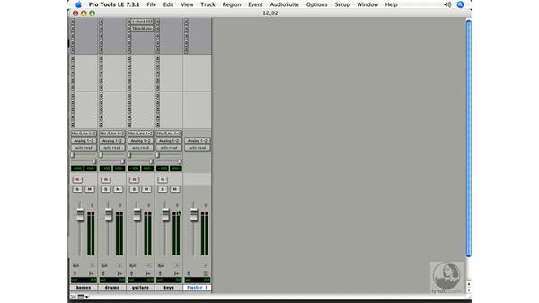 Using a master fader: Pro Tools 7 LE Essential Training