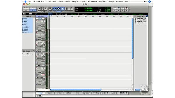 Saving mixing templates: Pro Tools 7 LE Essential Training