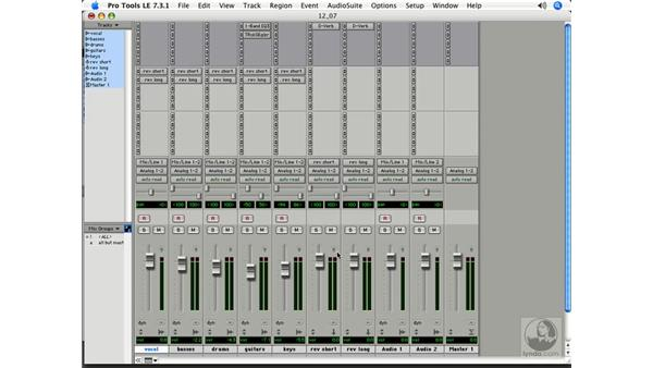 Creative tips for mixing: Pro Tools 7 LE Essential Training