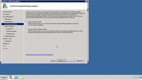 Public-Key-Infrastruktur in Windows-Server-Betriebssystemen erstellen