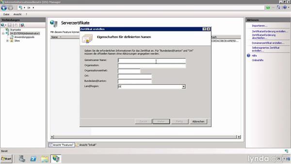 Webserver-Zertifikat im Active Directory erzeugen