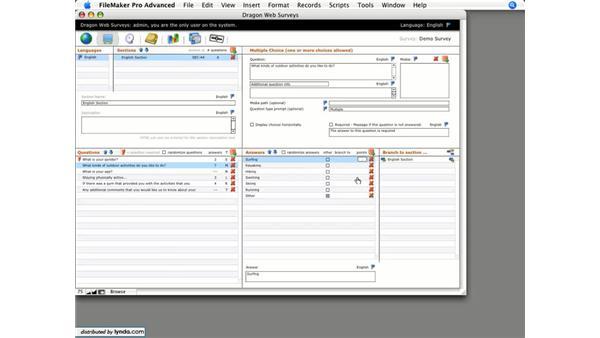 Point tracking: Dragon Web Surveys for FileMaker 8.5