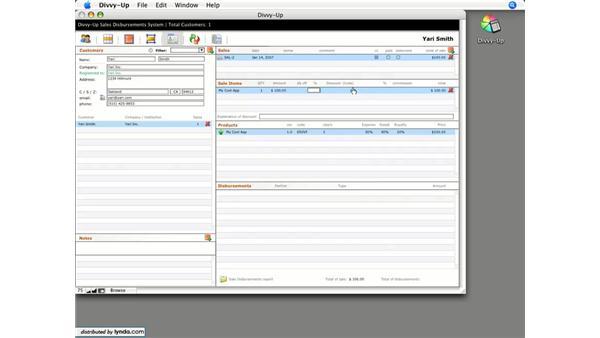 Entering sales: Divvy-Up for FileMaker 8