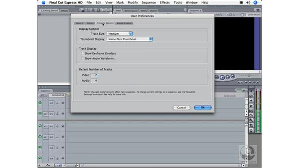 Adjusting preferences: Final Cut Express HD 3.5 Essential Training