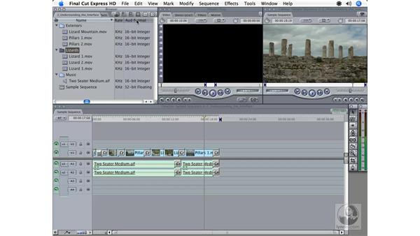 Browser window overview: Final Cut Express HD 3.5 Essential Training