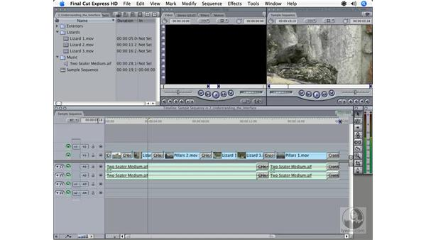 Timeline overview: Final Cut Express HD 3.5 Essential Training