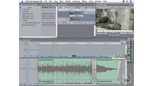 Tools and Audio Meters overview: Final Cut Express HD 3.5 Essential Training
